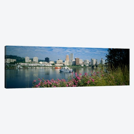 Boat in the sea, Portland, Oregon, USA, 1999 Canvas Print #PIM1770} by Panoramic Images Canvas Print
