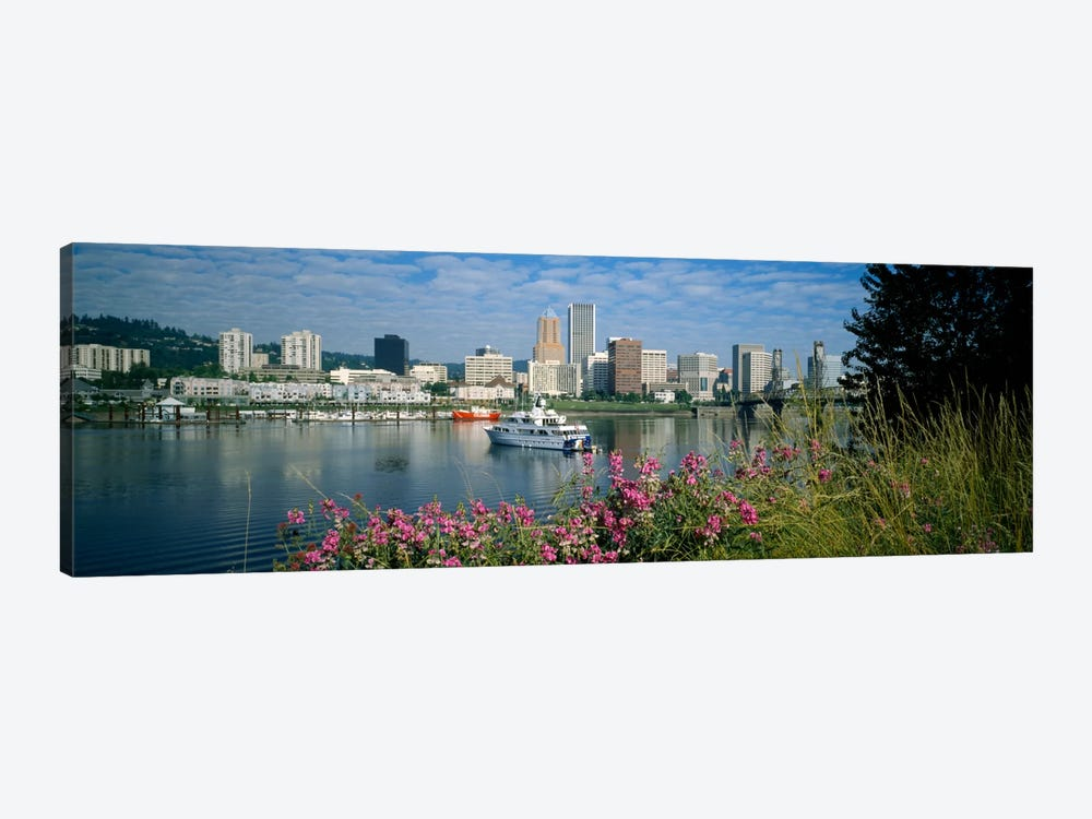 Boat in the sea, Portland, Oregon, USA, 1999 by Panoramic Images 1-piece Canvas Wall Art