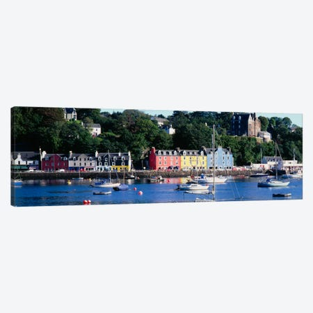 Main Street Architecture, Tobermory, Isle of Mull, Inner Hebrides, Scotland, United Kingdom Canvas Print #PIM1777} by Panoramic Images Canvas Art