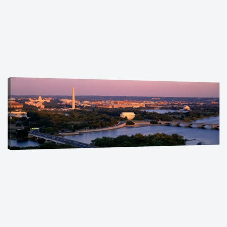 Aerial, Washington DC, District Of Columbia, USA Canvas Print #PIM1779} by Panoramic Images Art Print