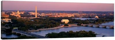 Aerial, Washington DC, District Of Columbia, USA Canvas Art Print