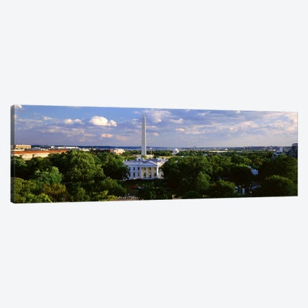 Aerial, White House, Washington DC, District Of Columbia, USA Canvas Print #PIM1780} by Panoramic Images Canvas Art