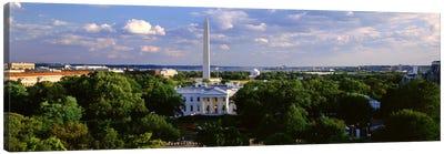 Aerial, White House, Washington DC, District Of Columbia, USA Canvas Print #PIM1780