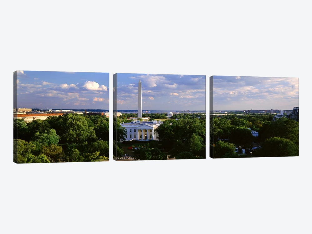 Aerial, White House, Washington DC, District Of Columbia, USA by Panoramic Images 3-piece Art Print