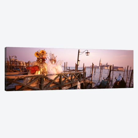 Italy, Venice, St MarkÕs Basin, people dressed for masquerade Canvas Print #PIM1783} by Panoramic Images Canvas Art