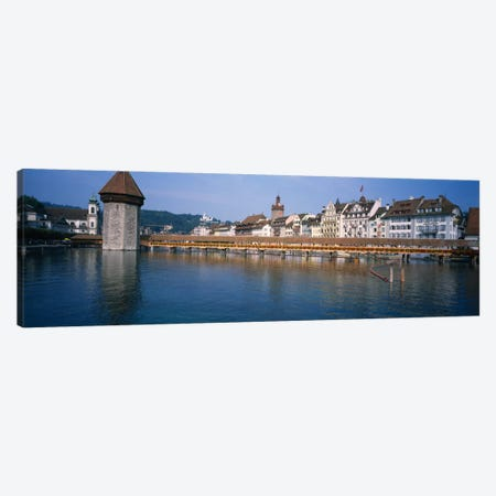 Kapellbrucke & Wasserturm, Lucerne, Switzerland Canvas Print #PIM1786} by Panoramic Images Canvas Art Print