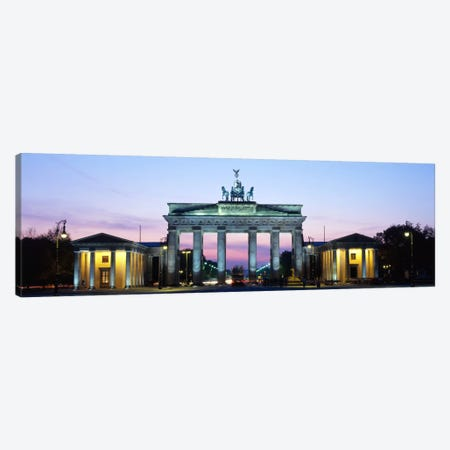 Brandenburg Gate At Dusk, Berlin, Germany Canvas Print #PIM178} by Panoramic Images Canvas Wall Art