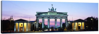 Brandenburg Gate At Dusk, Berlin, Germany Canvas Art Print