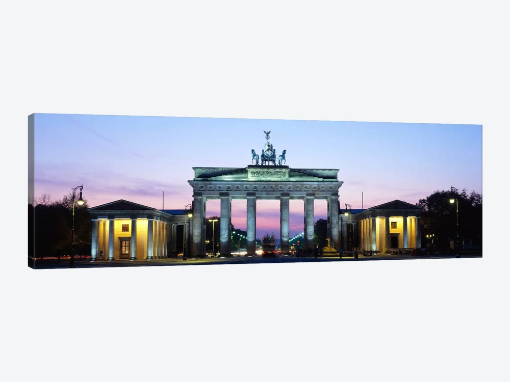 Brandenburg Gate At Dusk, Berlin, Germany 1-piece Canvas Wall Art