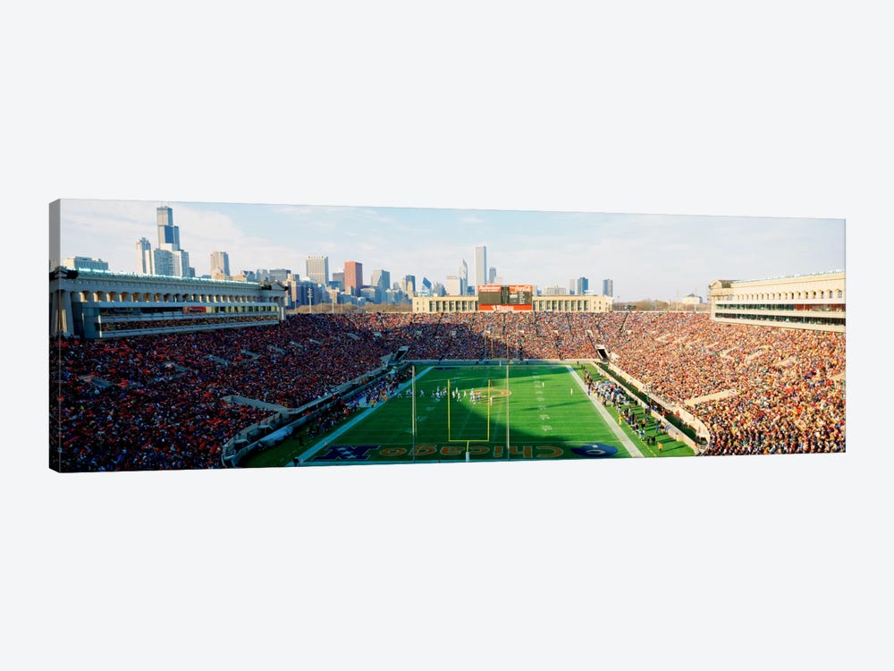 High angle view of spectators in a stadiumSoldier Field (before renovations), Chicago, Illinois, USA by Panoramic Images 1-piece Canvas Artwork