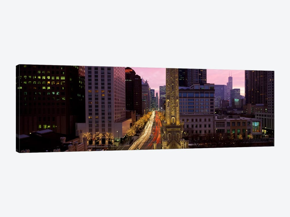 Buildings in a city, Michigan Avenue, Chicago, Cook County, Illinois, USA by Panoramic Images 1-piece Canvas Print