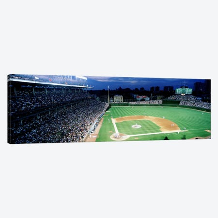 USA, Illinois, Chicago, Cubs, baseball #2 Canvas Print #PIM1794} by Panoramic Images Canvas Wall Art