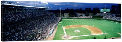 USA, Illinois, Chicago, Cubs, baseball #2 by Panoramic Images Canvas Wall Art