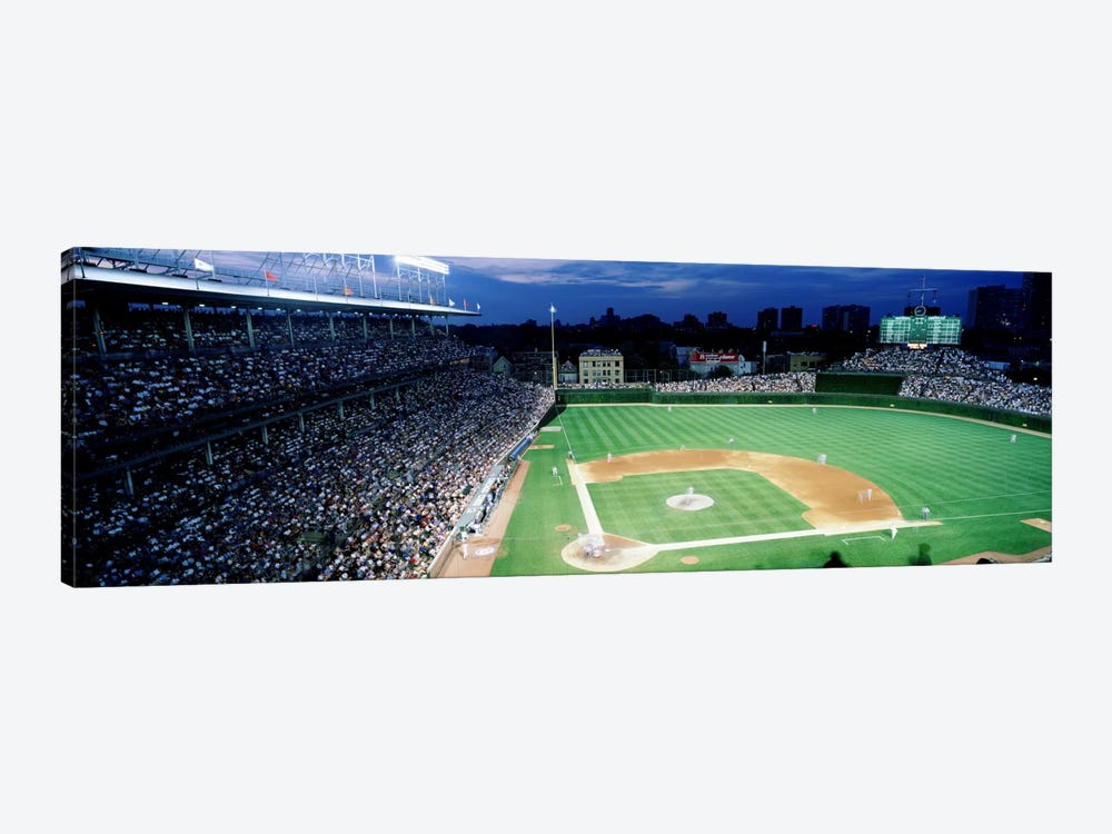 USA, Illinois, Chicago, Cubs, baseball #2 by Panoramic Images 1-piece Canvas Wall Art