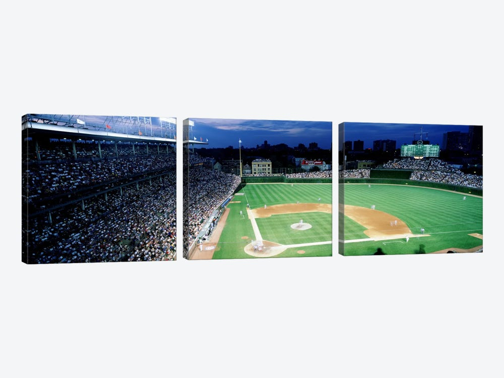 USA, Illinois, Chicago, Cubs, baseball #2 by Panoramic Images 3-piece Canvas Artwork