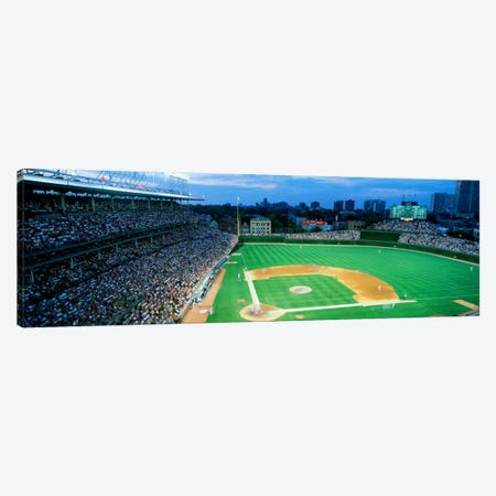 High angle view of spectators in a stadium, Wrigley Field, Chicago Cubs, Chicago, Illinois, USA Canvas Print #PIM1795} by Panoramic Images Canvas Art