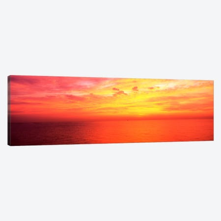 Clouds over a lake at sunrise, Lake Michigan, Chicago, Illinois, USA Canvas Print #PIM1796} by Panoramic Images Canvas Artwork