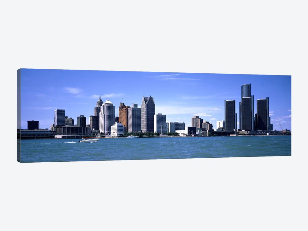 Buildings at the waterfront, Detroit, Wayne County, Michigan, USA #2 by Panoramic Images 1-piece Canvas Print