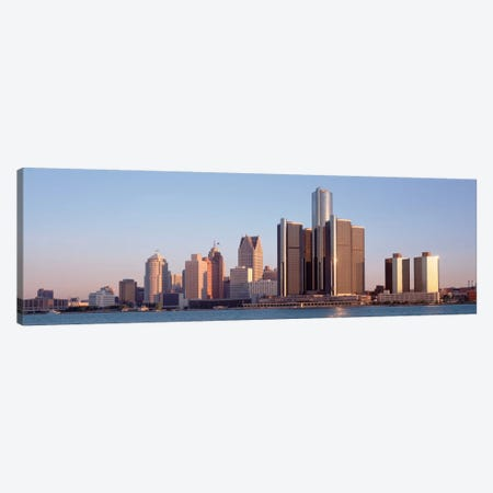 Buildings in a city, Detroit, Michigan, USA Canvas Print #PIM1800} by Panoramic Images Canvas Print