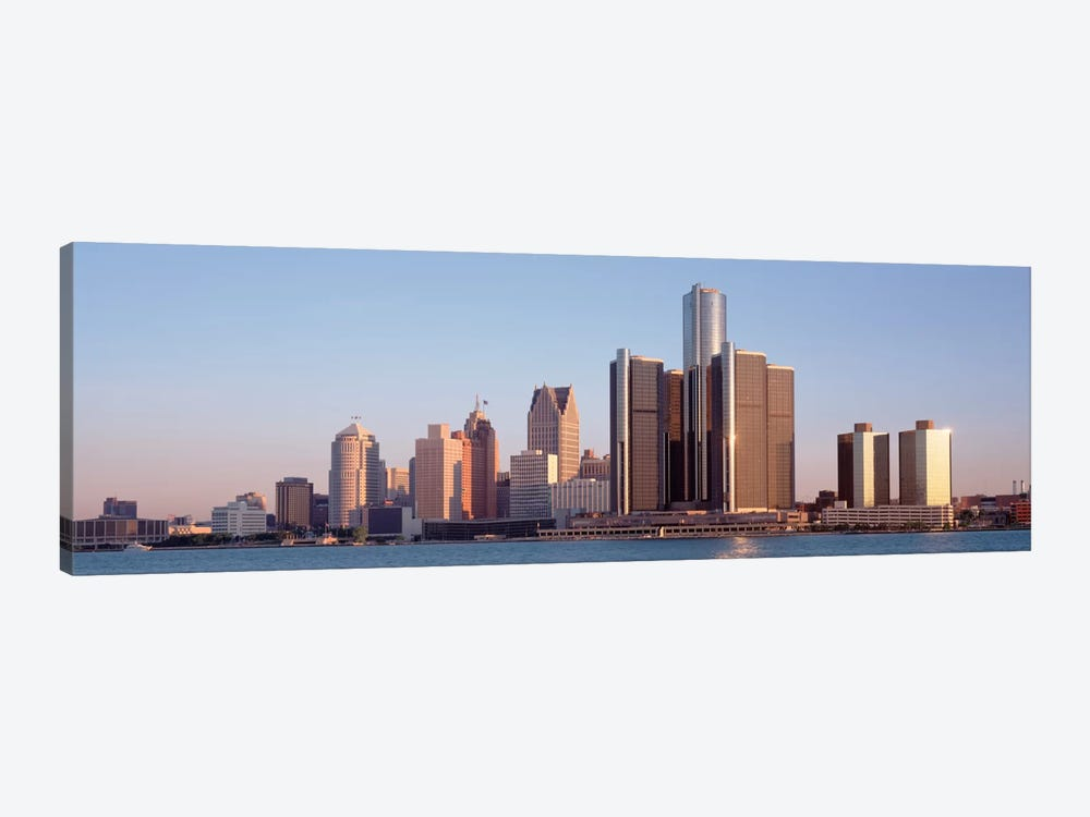 Buildings in a city, Detroit, Michigan, USA 1-piece Canvas Art Print