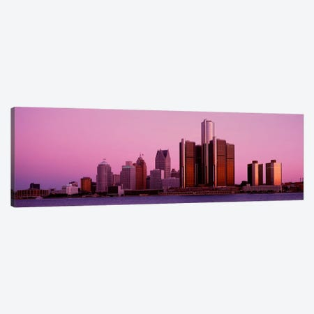 Buildings in a cityDetroit, Michigan, USA Canvas Print #PIM1801} by Panoramic Images Art Print