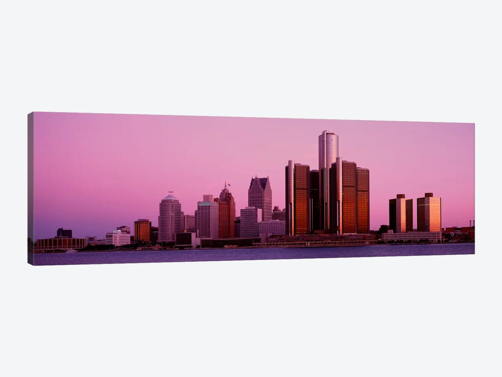 Buildings in a cityDetroit, Michigan, USA by Panoramic Images 1-piece Canvas Artwork
