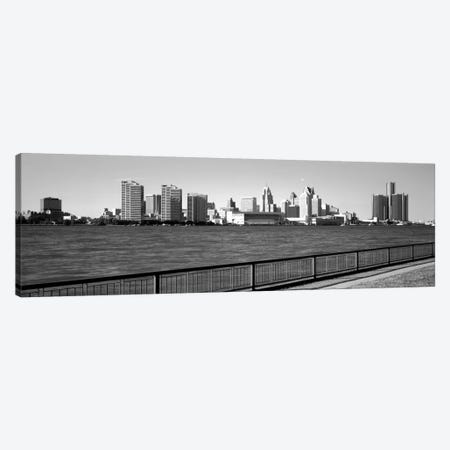 Buildings at the waterfront, Detroit, Wayne County, Michigan, USA #3 Canvas Print #PIM1803} by Panoramic Images Canvas Art Print