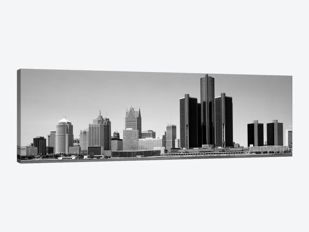 Skyscrapers In The City, Detroit, Michigan, USA by Panoramic Images 1-piece Canvas Print