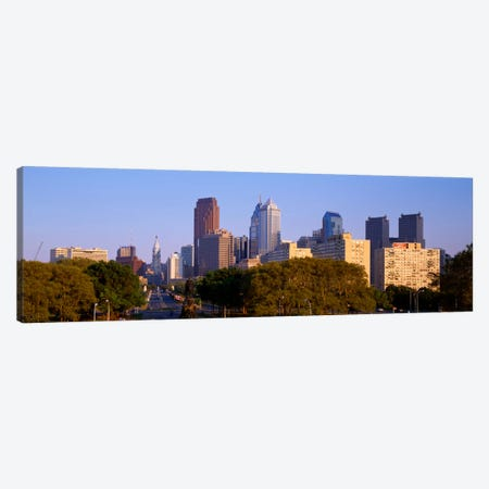 Skyscrapers in a city, Philadelphia, Pennsylvania, USA Canvas Print #PIM1805} by Panoramic Images Canvas Art