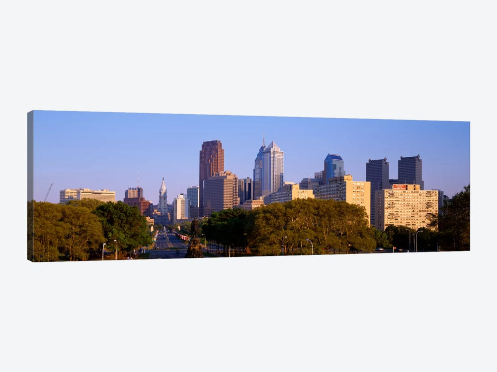 Skyscrapers in a city, Philadelphia, Pennsylvania, USA by Panoramic Images 1-piece Canvas Art