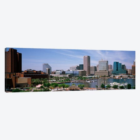 USA, Maryland, Baltimore, High angle view of Inner Harbor Canvas Print #PIM1806} by Panoramic Images Canvas Wall Art