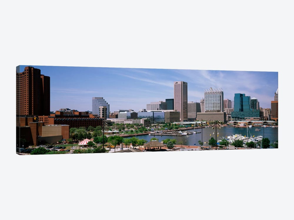 USA, Maryland, Baltimore, High angle view of Inner Harbor by Panoramic Images 1-piece Art Print