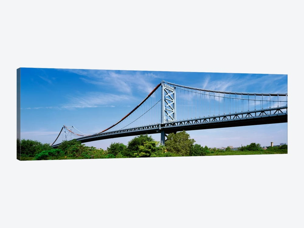 USA, Philadelphia, Pennsylvania, Benjamin Franklin Bridge over the Delaware River by Panoramic Images 1-piece Canvas Art