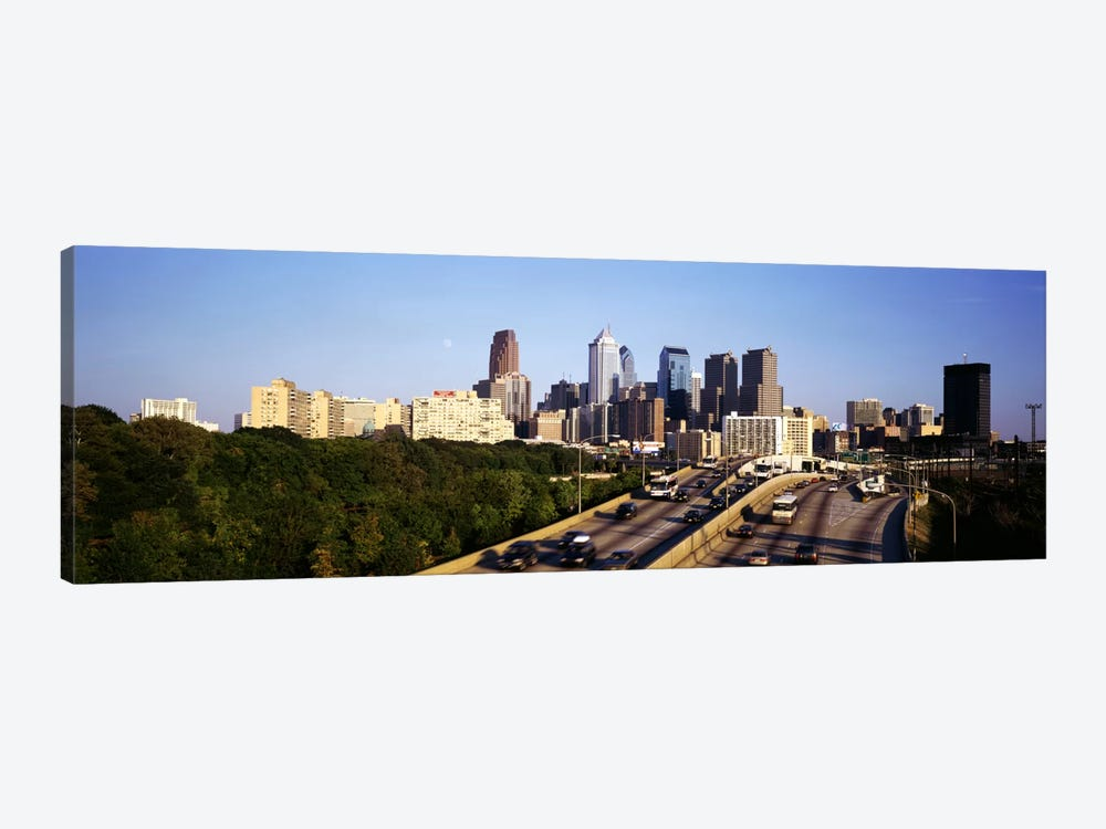 Route 76 Skyline Philadelphia PA USA by Panoramic Images 1-piece Art Print