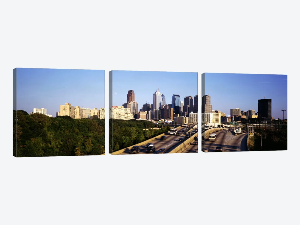 Route 76 Skyline Philadelphia PA USA by Panoramic Images 3-piece Art Print