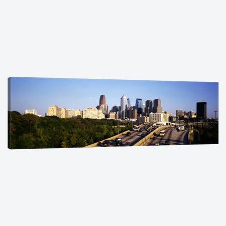 Route 76 Skyline Philadelphia PA USA Canvas Print #PIM1808} by Panoramic Images Canvas Art Print