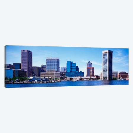 USA, Maryland, Baltimore, Skyscrapers along the Inner Harbor Canvas Print #PIM1809} by Panoramic Images Art Print