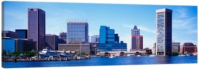 USA, Maryland, Baltimore, Skyscrapers along the Inner Harbor Canvas Print #PIM1809