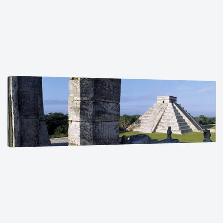 El Castillo (Temple Of Kukulcan), Chichen Itza, Yucatan, Mexico Canvas Print #PIM1810} by Panoramic Images Canvas Wall Art