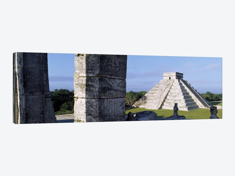El Castillo (Temple Of Kukulcan), Chichen Itza, Yucatan, Mexico by Panoramic Images 1-piece Canvas Wall Art