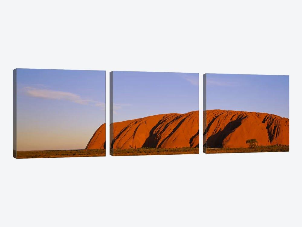 Uluru (Ayers Rock) At Dusk, Uluru-Kata Tjuta National Park, Northern Territory, Australia by Panoramic Images 3-piece Canvas Art