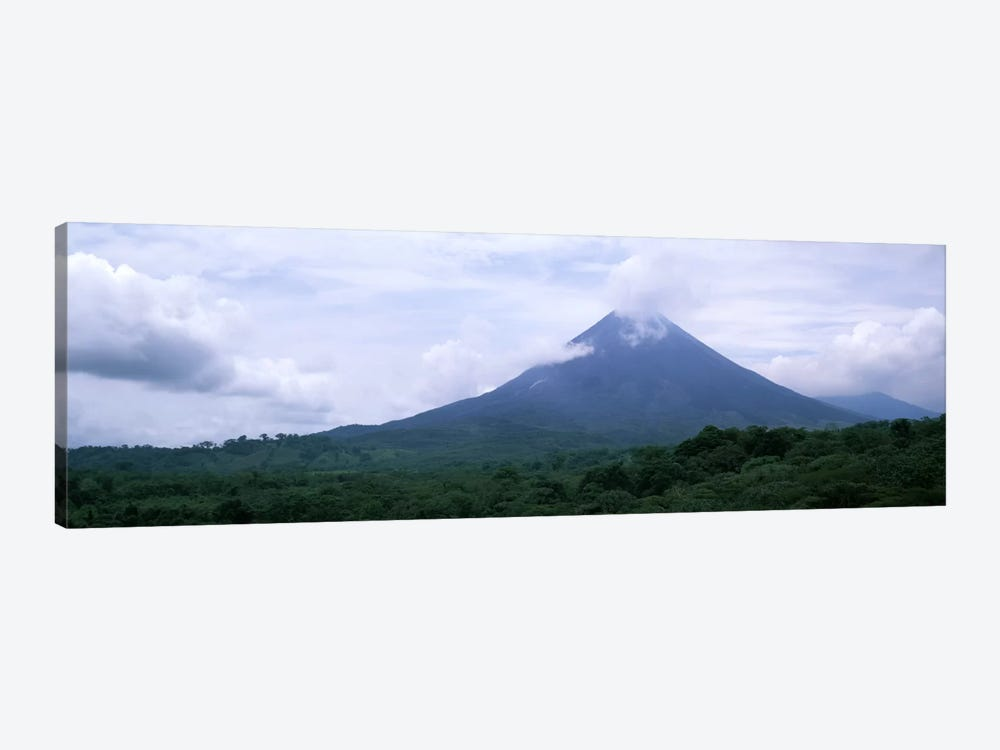 Clouds over a mountain peak, Arenal Volcano, Alajuela Province, Costa Rica by Panoramic Images 1-piece Canvas Print
