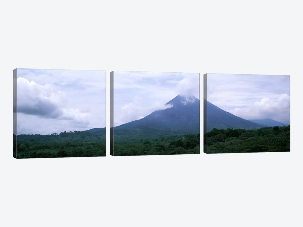 Clouds over a mountain peak, Arenal Volcano, Alajuela Province, Costa Rica by Panoramic Images 3-piece Canvas Art Print