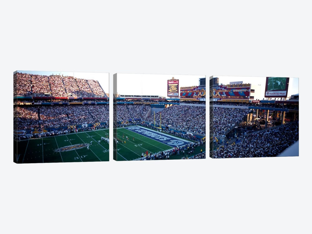High angle view of a football stadium, Sun Devil Stadium, Arizona State University, Tempe, Maricopa County, Arizona, USA by Panoramic Images 3-piece Canvas Artwork