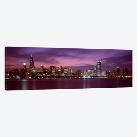 Downtown Skyline, Chicago, Illinois, USA Canvas Print #PIM1830} by Panoramic Images Canvas Wall Art