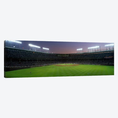 Spectators watching a baseball match in a stadium, Wrigley Field, Chicago, Cook County, Illinois, USA Canvas Print #PIM1832} by Panoramic Images Canvas Wall Art