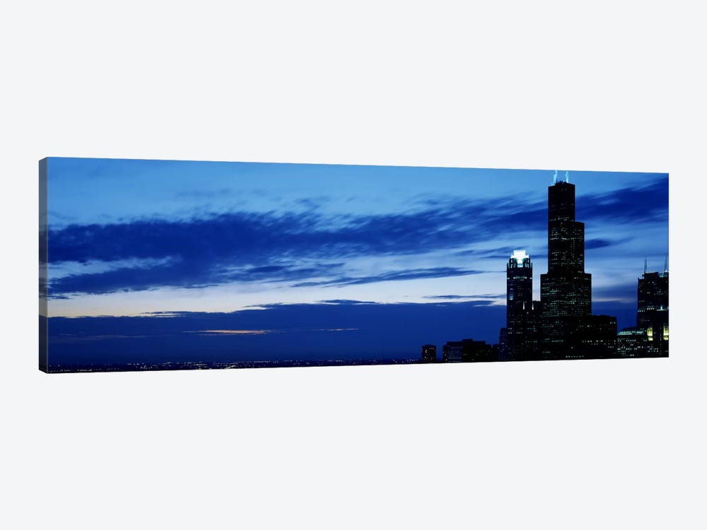 Buildings in a city, Sears Tower, Chicago, Cook County, Illinois, USA by Panoramic Images 1-piece Canvas Artwork
