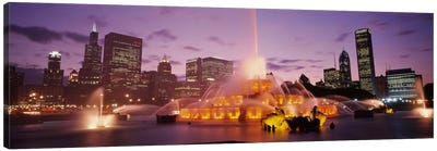 Buckingham Fountain At Night, Chicago, Illinois, USA Canvas Print #PIM1835