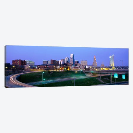 Buildings in a city, Kansas City, Missouri, USA Canvas Print #PIM1839} by Panoramic Images Canvas Wall Art