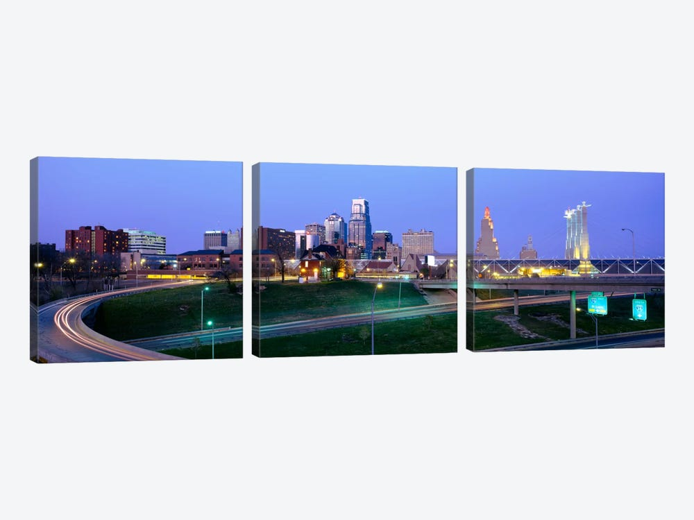 Buildings in a city, Kansas City, Missouri, USA 3-piece Canvas Art Print